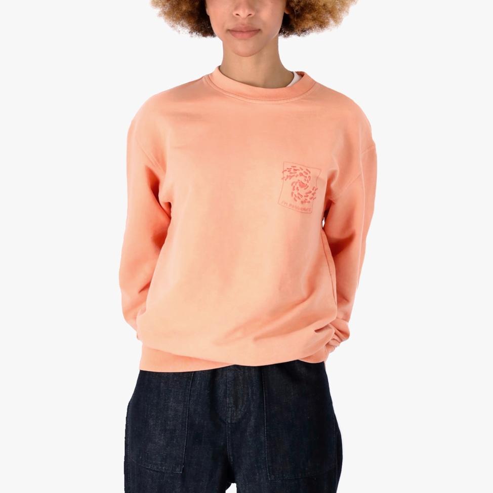 Peach C-neck