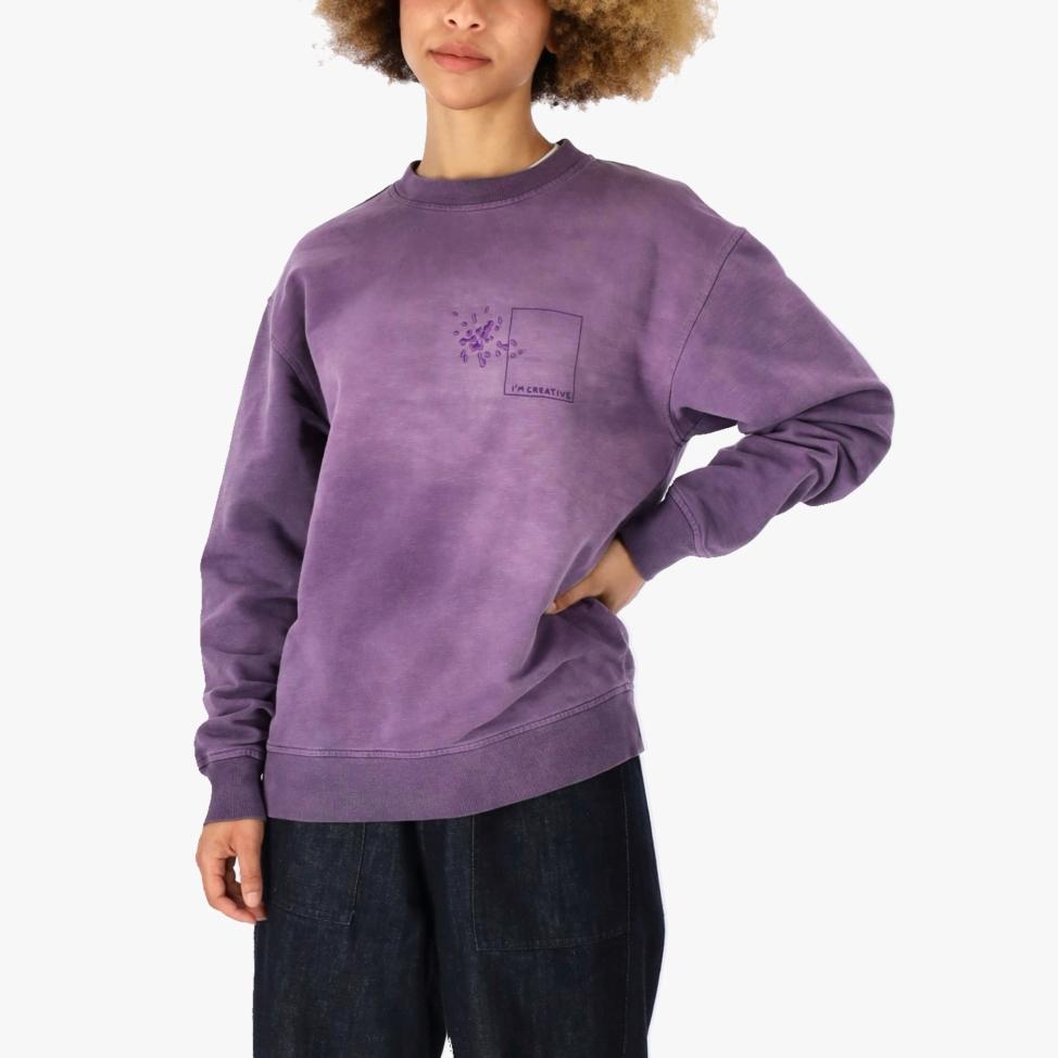 Purple C-neck